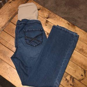 Motherhood Maternity Fade to Blue Denim Jeans Med